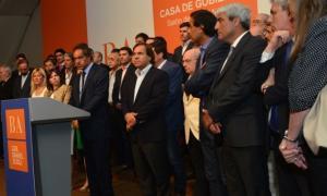 Scioli se despidió de sus funcionarios en la Gobernación.  Foto: Andrea Morales
