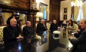 La Presidenta recibió a la Comisión Ejecutiva del Episcopado.