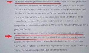 Insólito pedido del director d eun colegio a sus docentes