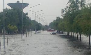 Distintos municipios de la Provincia padecieron fuertes lluvias y la caída de granizo. Foto: Prensa