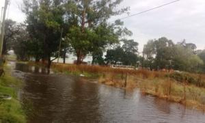 La esperada lluvia trajo complicaciones. Foto: Twitter