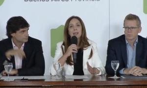Vidal anunció el paquete anticrisis. Foto: Captura de pantalla