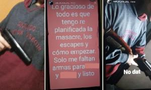 El chico publicó fotos en redes portando armas. Imagen: Diario Popular