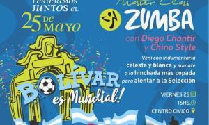 Previa mundial y locro para celebrar un nuevo 25 de mayo en Bolívar. Foto: Prensa