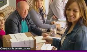 Votó María Eugenia Vidal. (Captura video)