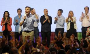 Macri agradeció a su equipo de trabajo de Cambiemos. Foto: Leandro Vellón
