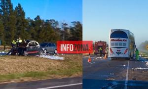 Lezama: Accidente entre auto y camión en Ruta 2 con un muerto (Infozona)
