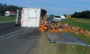 Así quedó el camión.