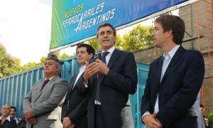 Randazzo anunció la electrificación en un acto en Mercedes.