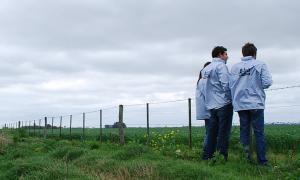 Fiscalizadores de ARBA en operativos de control en campos de la provincia de Buenos Aires.
