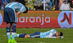 Derrota de Argentina. Foto: AFP