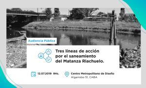 Cuenca Matanza Riachuelo: Nueva Audiencia Pública para abordar el saneamiento