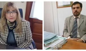 María Elena Baquedano y Alejandro López, presidenta y vice del TOC 2 de San Nicolás.