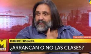 Baradel estruvo en el programa de Mauro Viale en América.