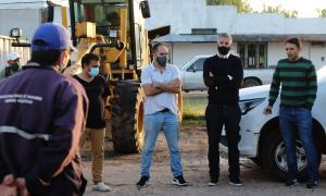 Maggiotti, Diz y Barrado, que se sumó como Jefe de Gabinete