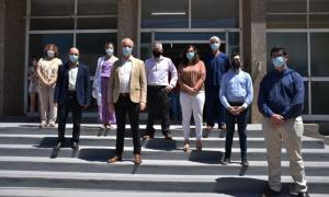 Britos y Gollan en el hospital municipal