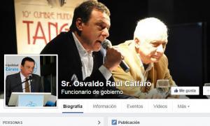 La cuenta de Cáffaro en Facebook es falsa.
