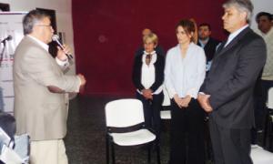 El Intendente Vicente Gatica,a la izquierda, participó del evento. Foto: La Voz de Bragado