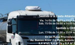 Feriado de Güemes: Restricción de tránsito pesado por fin de semana largo en rutas de Provincia