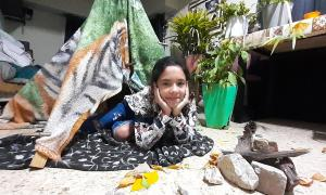 La Escuela Francoise Dolto de Avellaneda propuso un campamento virtual con sus alumnos.