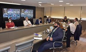 Sistema Matanza Riachuelo: AySA, Medioambiente y ACUMAR se reunieron con autoridades de la CARP para exponer los avances técnicos