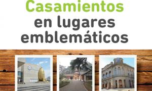 Casamientos en lugares emblemáticos de Provincia: Participan 29 municipios y hay inscripción
