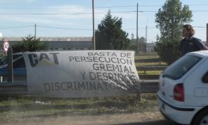 Los trabajadores mantienen una huelga en Tortuguitas.