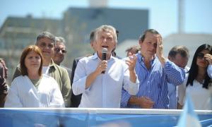 Macri en Dolores. Foto: Juano Tesone.