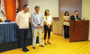 Álvarez y Merlini encabezaron el acto.