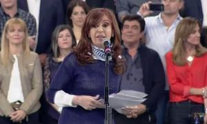 Cristina Kirchner habló en el Club Atenas en La Plata