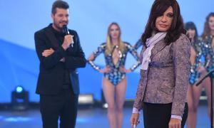 Tinelli y Cristina en la presentación de Showmatch.