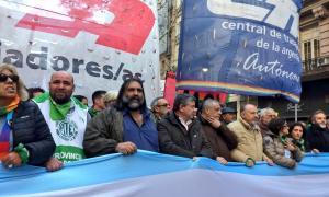 Baradel ratificó la adhesión al paro de la CGT. Foto: Prensa