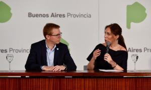El presidente del Banco Provincia junto a María Eugenia Vidal