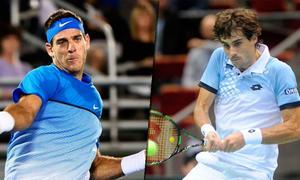 Del Potro y Pella, ambos campeones de la Copa Davis.