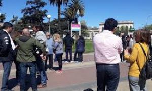 Trabajadores de la empresa Don Antonio protestaron tras recibir telegramas de despidos.Foto: Diario Democracia