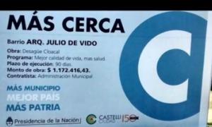 Cambian el nombre del barrio Julio de Vido en Castelli. Fuente: Telenoche