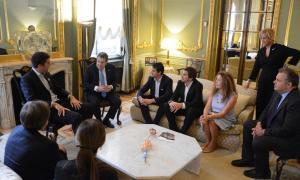 Reunión de diputados bonaerenses con Puerta en Madrid