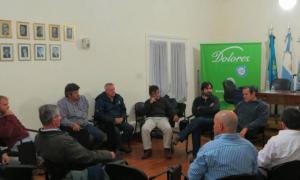 El intendente Etchevarren participó de la reunión por la Emergencia Agropecuaria. Foto: Municipio de Dolores