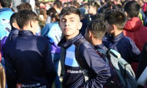 Chicos de La Matanza en la ceremonia inaugural. Foto: La Noticia 1.
