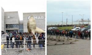 Una multitud se acercó hasta el museo MAR.