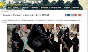 Colocaron supuestos mensajes del Estado Islámico.