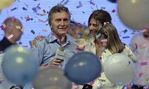 Los festejos de Macri en el bunker de Cambiemos. Foto: La Nación