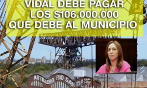 """""""Vidal debe pagar"""" dijeron desde la comuna, acompañado de esta imagen. Imagen: Municipalidad de Ensenada"""