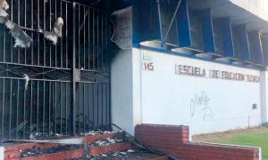 Una escuela técnica en Lanús incendiada de forma intencional hace pocas semanas.