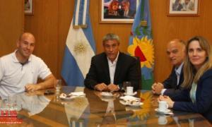 Ferraresi, junto a Molina, Grindetti y Gladys González. Foto: PerspectivaSur