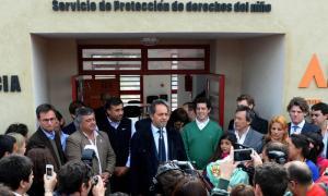 Scioli, Selva y De Pedro juntos en Mercedes. Foto BA Noticias.