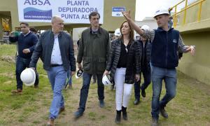 Vidal, Bullrich y Uset, en plena recorrida. Foto: Secretaría de Medios BA.