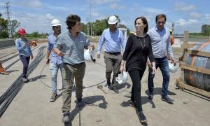 La Gobernadora supervisó obras. Foto: Prensa