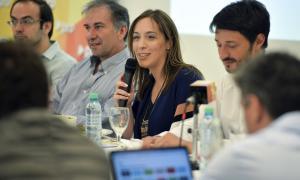 Vidal encabezó el encuentro del PRO en Pinamar.