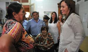 La Gobernadora durante su visita a Chacabuco.